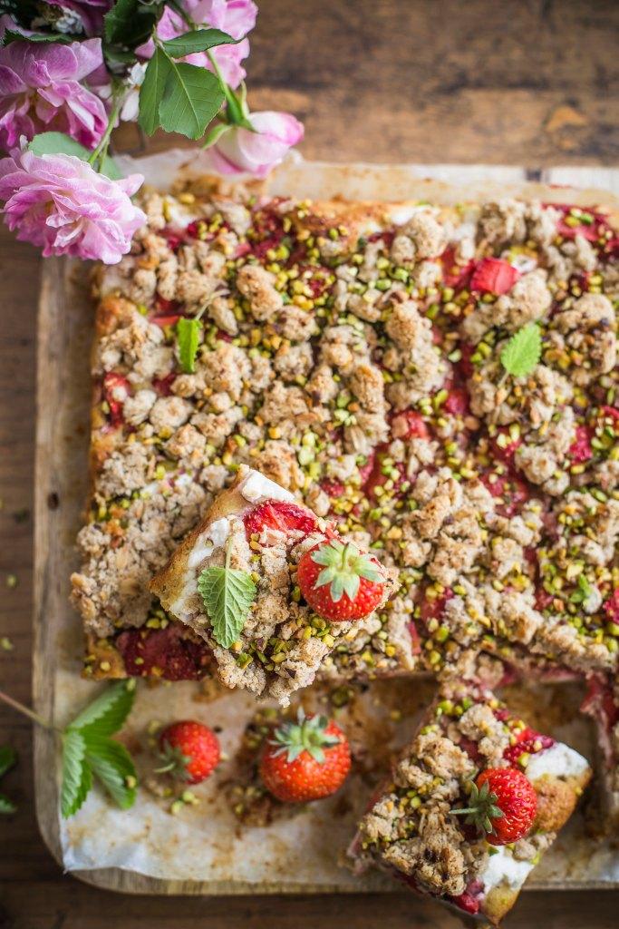 Crumble cake con ricotta e fragole - senza zuccheri aggiunti 3