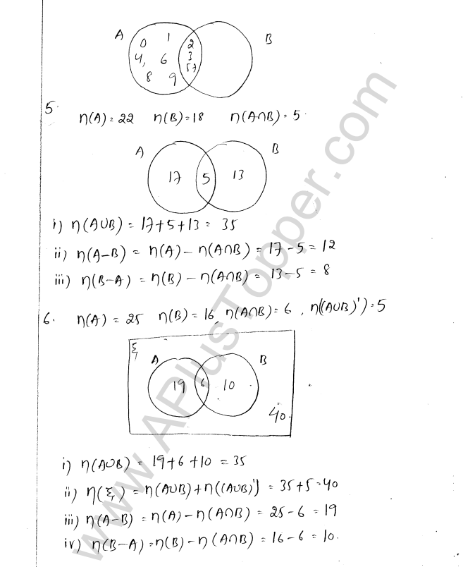 ml aggarwal icse solutions for class 8 maths chapter 6 operation on Anb Venn Diagram ml aggarwal icse solutions for class 8 maths