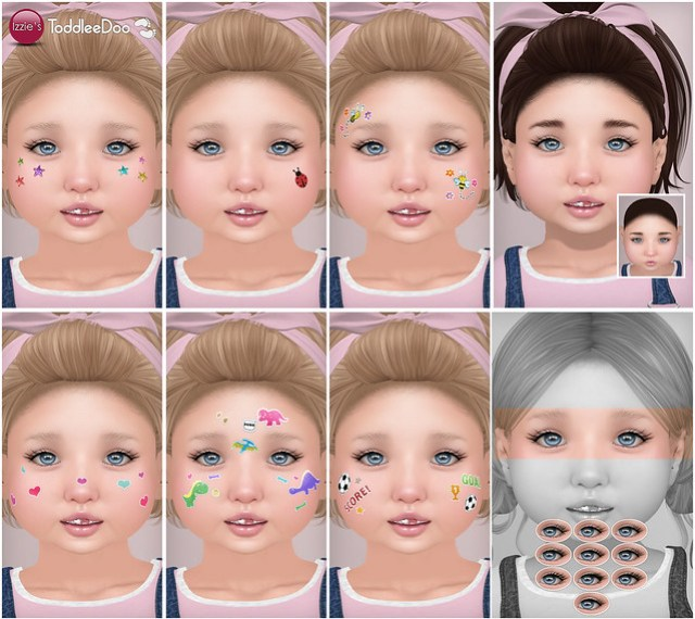 Preview Toddleedoo Face Stickers, Hairbase & Lashes