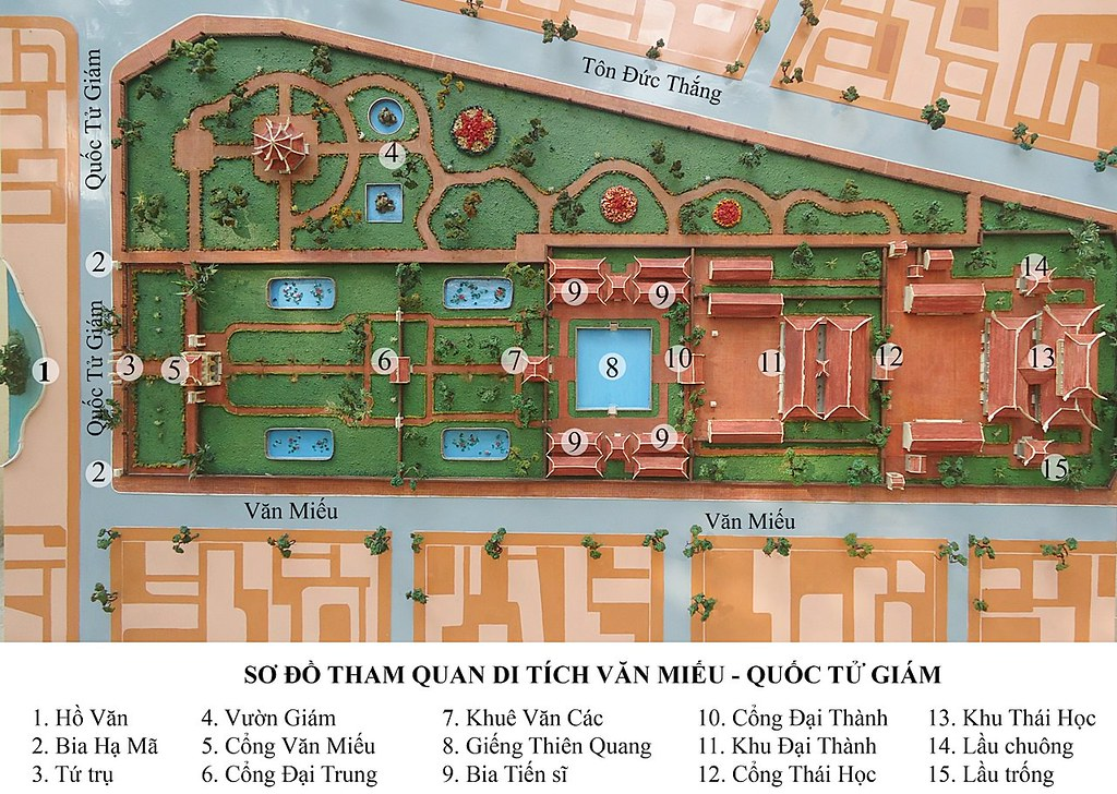 Temple Of Literature Map