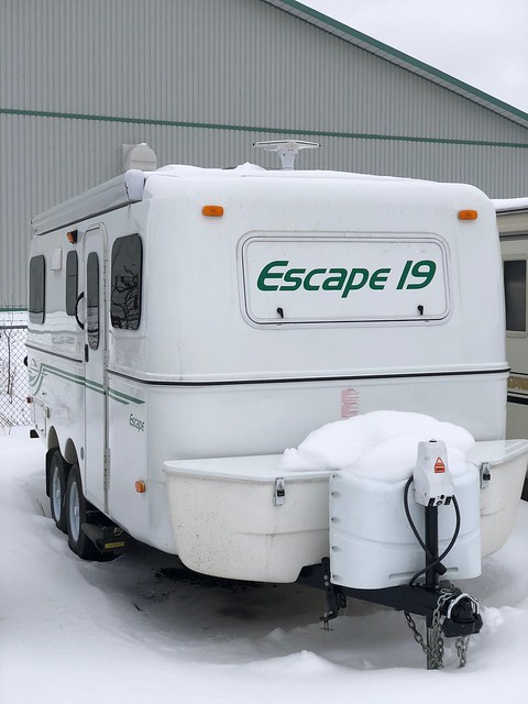 Owen Sound Trailer in snow