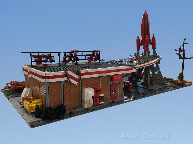 Fallout 4s Red Rocket Truck Stop Built Entirely Out Of