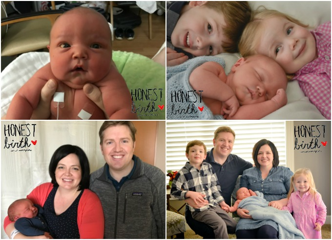 Mama Megan Larson shares the natural hospital birth story of her youngest son on the Honest Birth birth story series! Megan went into labor on her own, had a version at the hospital, and with the help of her midwife and doula, delivered an 11 pound baby boy naturally!