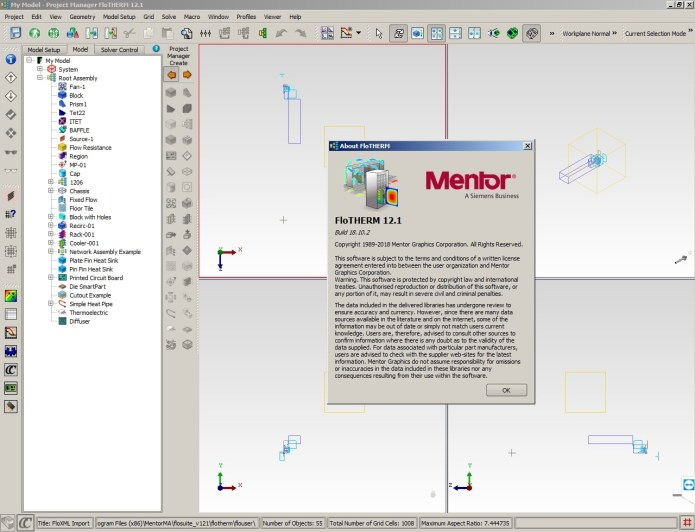 Working with Mentor Graphics FloTHERM Suite 12.1 full license forever