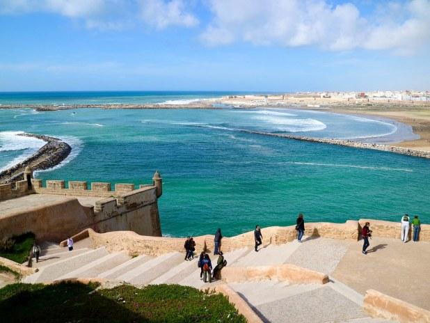 Vista a la playa de Rabat