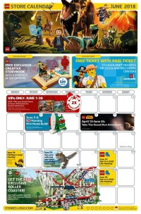 LEGO June 2018 Store Calendar Promotions & Events - The ...