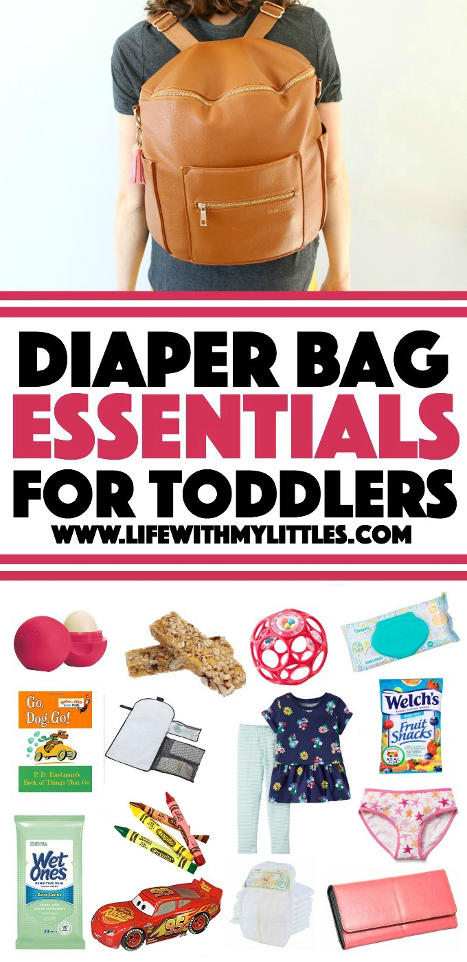 Diaper bag essentials for toddlers: a great list of what to pack in your diaper bag for toddlers