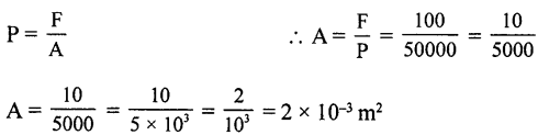 Selina Concise Physics Class 8 ICSE Solutions - Force and Pressure 20