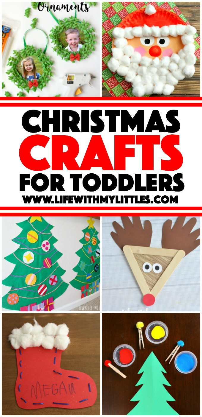 55 toddler Christmas crafts perfect for the holidays! Christmas tree crafts, reindeer crafts, stocking crafts, candy cane crafts, and Santa crafts! Easy, fun, and simple!