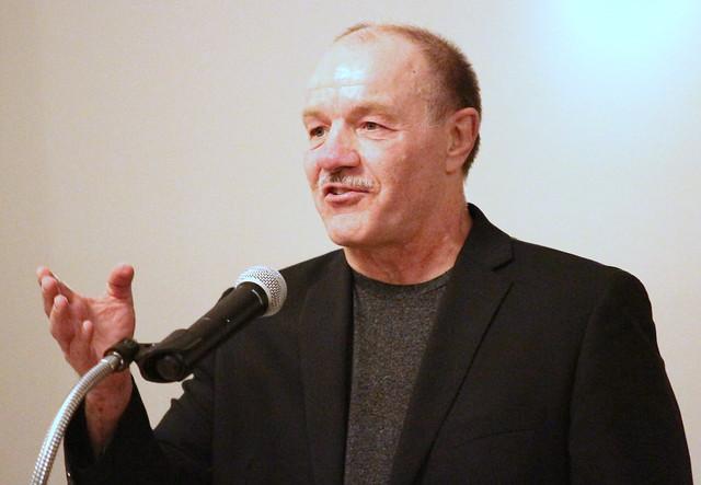 Tom Gruhlke, Presenter for inductee Mark Jensen. 180428BJF0975