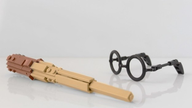 Harry Potter's wand and glasses in Lego
