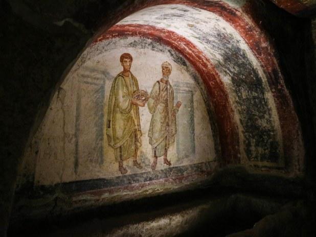 Frescos en las Catacumbas de San Gennaro