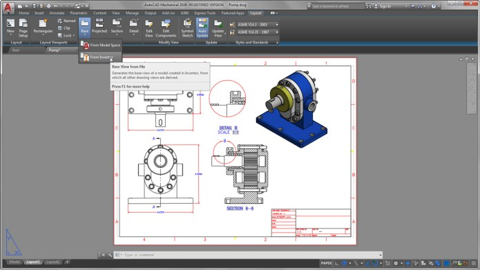 Design with Autodesk AutoCAD Mechanical 2019 x64 full license