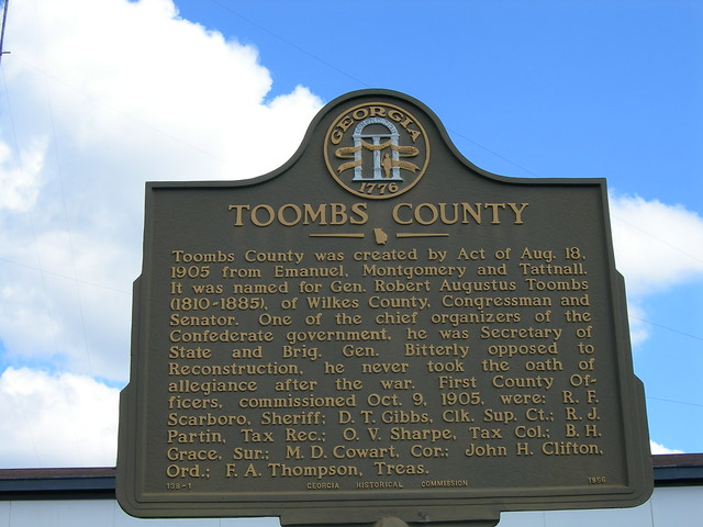 Toombs County Historic Marker  Flickr  Photo Sharing