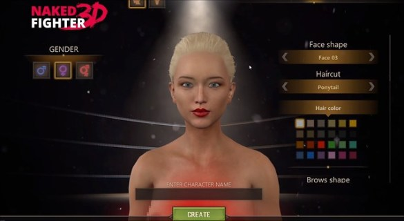 Naked Fighter 3D - Character Creation