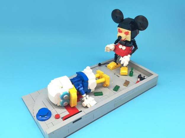 Crime scene Just imagine how it goes if Donald and mickey appear in thriller shows. Hope you like it and sorry if you found offense 😉 #lego #legocreation #legophotography #mickeymouse #donaldduck #disney