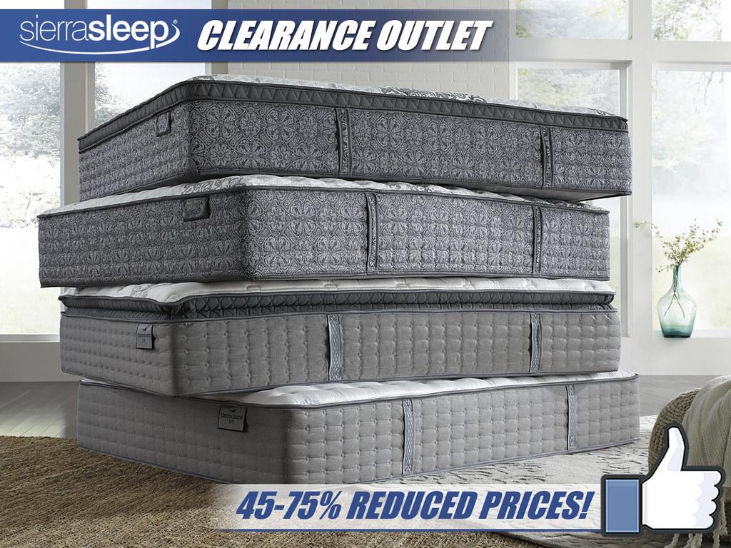 Sierra Sleep Clearance Outlet Mattress Stack_2018