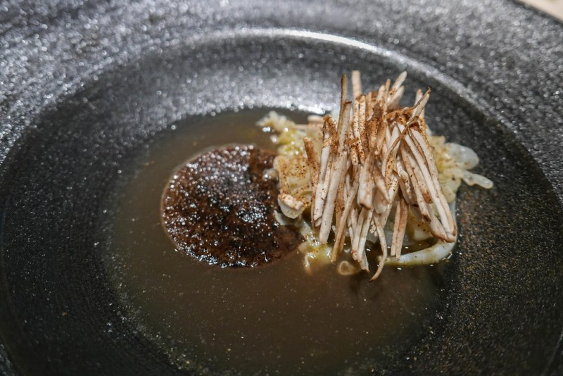 Squid, mushroom, shiitake, bouillon | Vijhalmur Sigurdarson | Souvenir | Ghent, Belgium