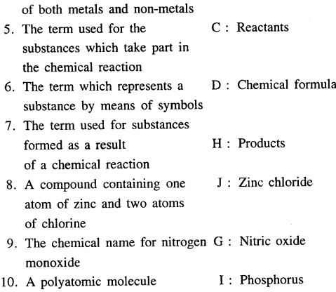 Selina Concise Chemistry Class 6 ICSE Solutions - Elements, Compounds, Symbols and Formulae 30