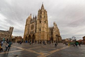 De kathedraal van Léon uit de 16de eeuw.
