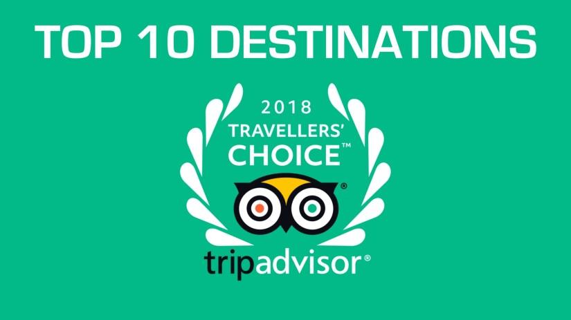 TripAdvisor Traveller's Choice® Awards 2018 For Destinations