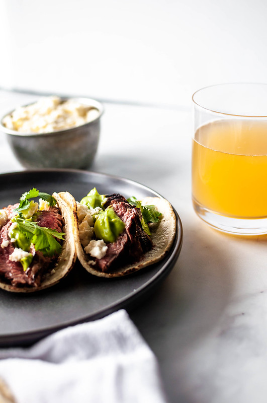Beer Marinated Steak Tacos