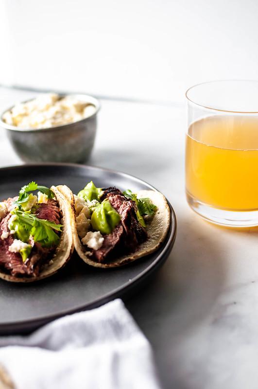 Beer Marinated Steak Tacos
