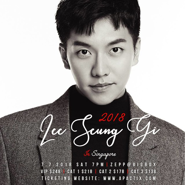Lee Seung Gi in Singapore 2018