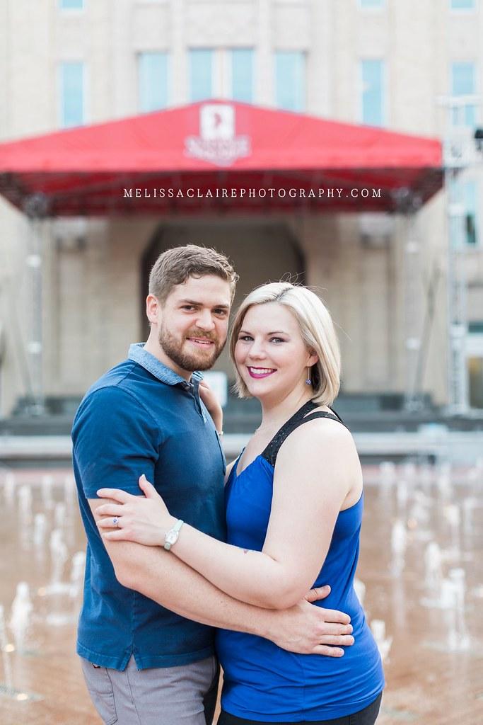Sundance Square Engagement Photos