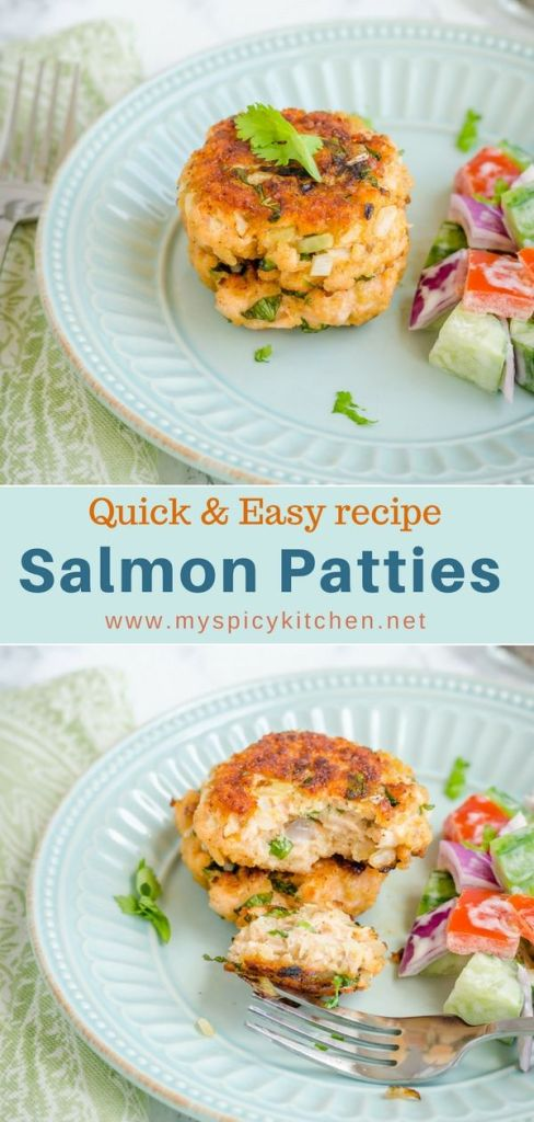 Healthy easy fresh salmon patties under 20 minutes