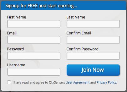 Registro en ClixSense
