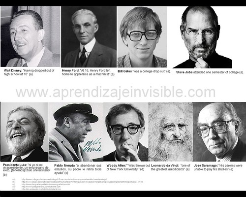 Famous & smart people who didn't go to the university [invisible learning]