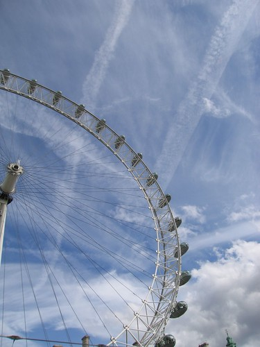 Wheel in a summer sky