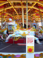 Emergency stop on a merry-go-around