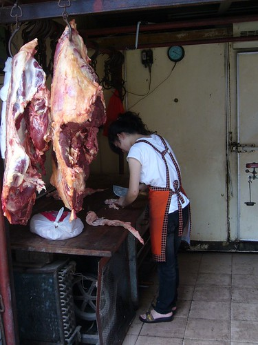 Butcher in Muslim Quarter