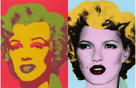 Warhol's Marilyn Monroe, 1963 - Banksy's Kate Moss, c.2005