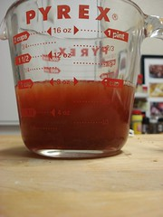 add OJ to the syrup to make 1c