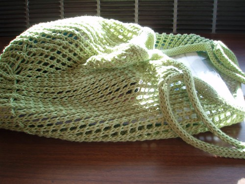 Green String Bag