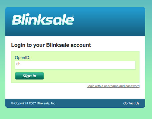 Blinksale OpenID Signin Form