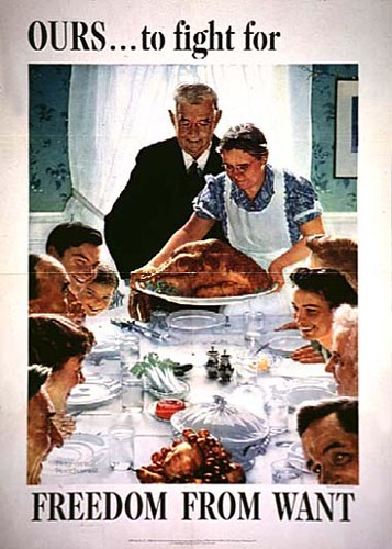 WW2 Poster Norman Rockwell Freedom From Want