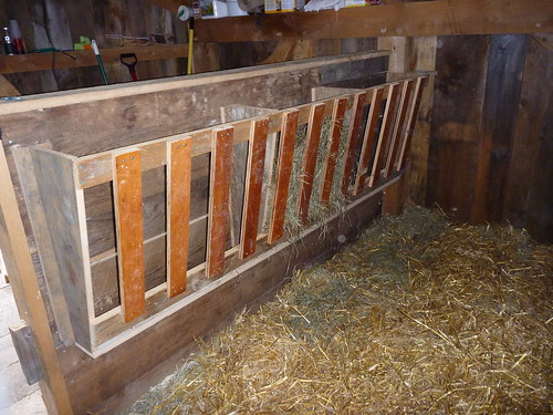 Upstairs hay rack