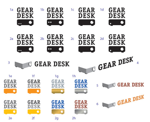 Gear Desk logo design, round 5