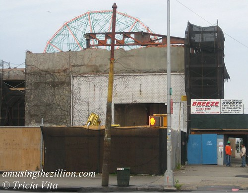 Bank of Coney Island Demolition. November 17, 2010. Photo © Tricia Vita/me-myself-i via flickr