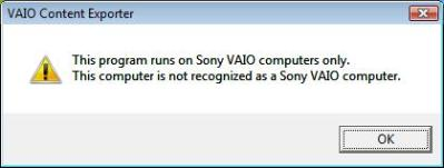 not a sony vaio