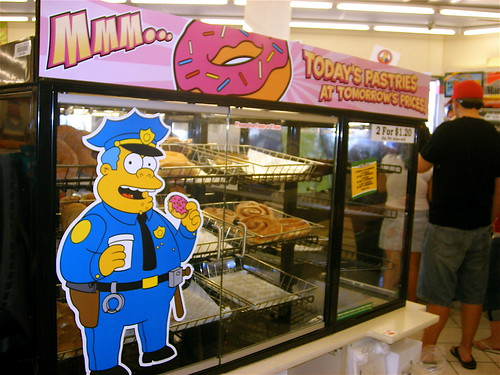 Wiggum Donuts at the Kwik-E Mart in Las Vegas