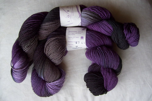 Lorna's Laces Shepherd Sock: black purl