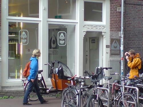 tourists in Amsterdam