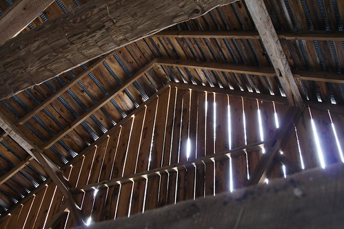Old Barn Inside Roof