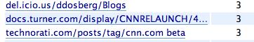 A referrer from CNN.com interal docs to my blog