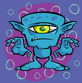 Cartoon Alien by coghillcartooning.